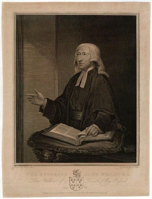 John Wesley, by James Fittler, published by  James Milbourne, published by  John Brydon, after  William Hamilton, published November 1788 (1788) - NPG D37684 - © National Portrait Gallery, London