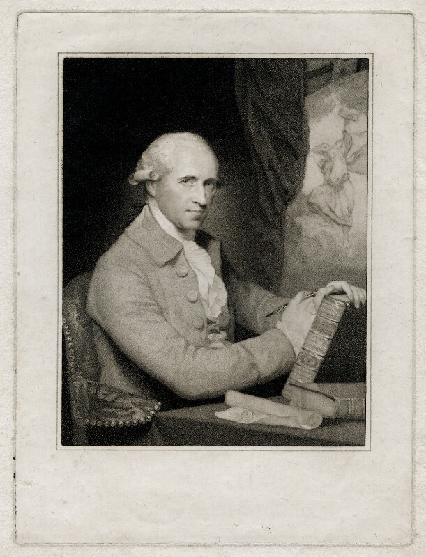 Benjamin West, by Caroline Watson, after  Gilbert Stuart, published 1786 (circa 1785) - NPG D37695 - © National Portrait Gallery, London