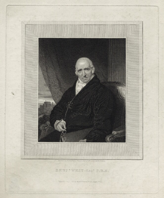 Benjamin West, by and published by Robert Newton, after  Sir William John Newton, published 1 August 1818 - NPG D37697 - © National Portrait Gallery, London