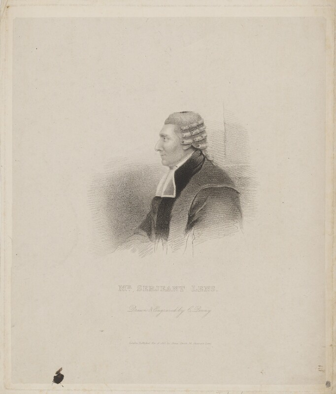 John Lens, by Charles Penny, published by  Anna Sweet, published 16 November 1825 - NPG D37302 - © National Portrait Gallery, London
