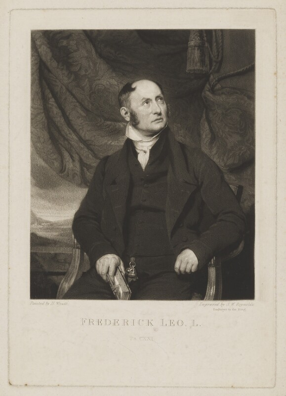 Frederick Leo, by Samuel William Reynolds, after  Henry Wyatt, early 19th century - NPG D37303 - © National Portrait Gallery, London