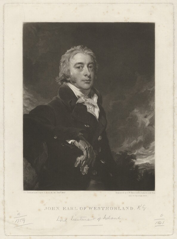 John Fane, 10th Earl of Westmorland, by Samuel William Reynolds, and by  Samuel Cousins, after  Sir Thomas Lawrence, published 1825 - NPG D37833 - © National Portrait Gallery, London
