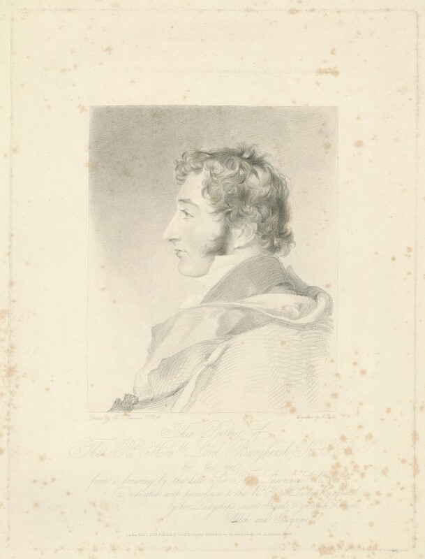 John Fane, 11th Earl of Westmorland, by John Bull, published by  Welch & Gwynne, after  Sir Thomas Lawrence, published 1 November 1838 (1814-1820) - NPG D37836 - © National Portrait Gallery, London