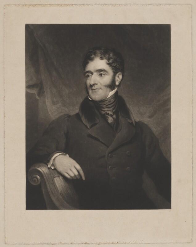 Hugh Fortescue, 2nd Earl Fortescue, by Charles Turner, after  James Ramsay, published 1835 - NPG D37747 - © National Portrait Gallery, London