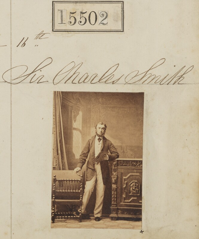 Sir Charles Cunliffe Smith, 3rd Bt, by Camille Silvy, 16 June 1864 - NPG Ax63434 - © National Portrait Gallery, London