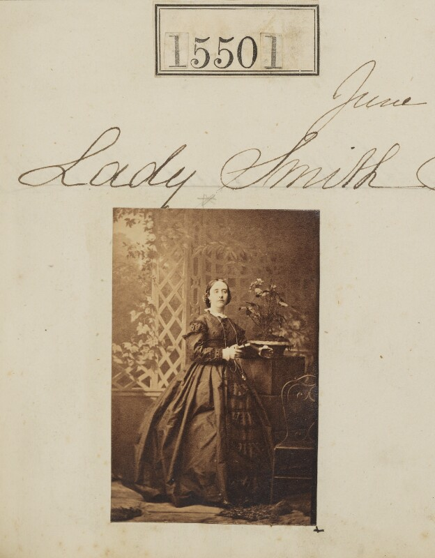Agnes Frederica (née Cure), Lady Smith, by Camille Silvy, 16 June 1864 - NPG Ax63433 - © National Portrait Gallery, London