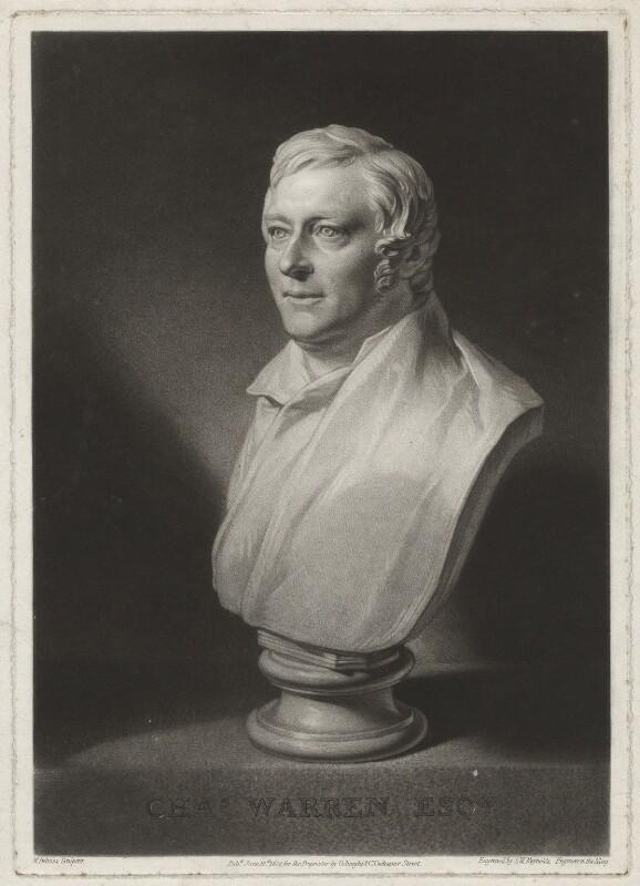 Charles Warren, by Samuel William Reynolds, published by  Colnaghi & Co, after  William Behnes, published 1824 - NPG D37848 - © National Portrait Gallery, London