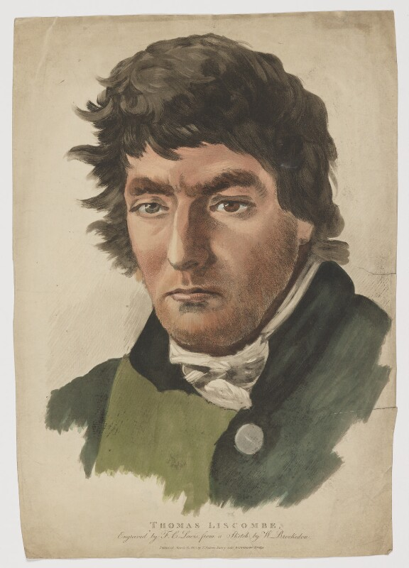 Thomas Liscombe (Luscombe), by Frederick Christian Lewis Sr, published by  Thomas Palser, after  William Brockedon, published 12 March 1813 - NPG D37359 - © National Portrait Gallery, London