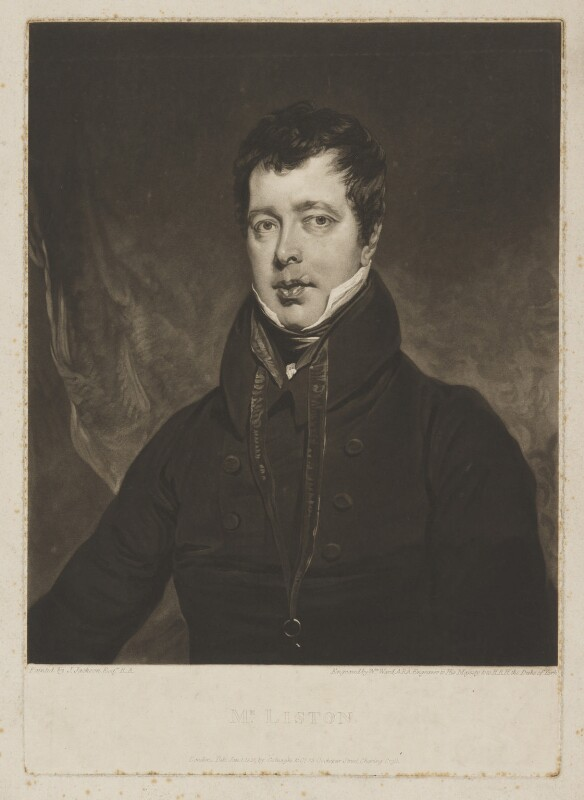 John Liston, by William Ward, published by  Colnaghi & Co, after  John Jackson, published 1 January 1821 - NPG D37365 - © National Portrait Gallery, London