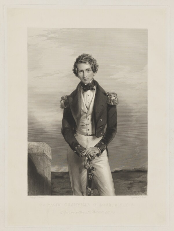Granville Gower Loch, by Joseph Brown, after  George Richmond, after 1853 - NPG D37392 - © National Portrait Gallery, London