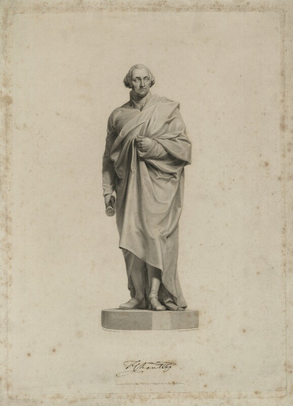 George Washington, by James Thomson (Thompson), published by  Colnaghi, Son & Co, after  Henry Corbould, after  Sir Francis Leggatt Chantrey, published 1 January 1827 - NPG D37877 - © National Portrait Gallery, London