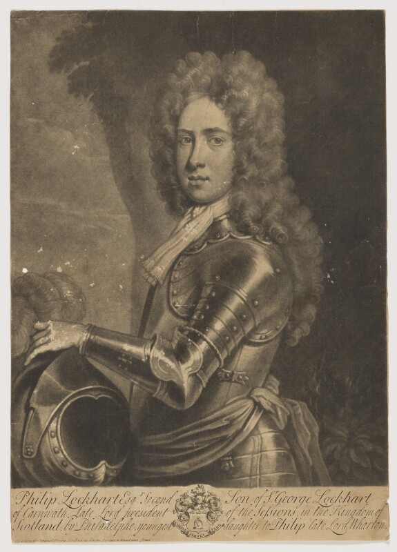 Philip Lockhart, published by Andrew Johnston, early 18th century - NPG D37403 - © National Portrait Gallery, London