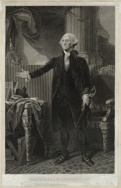 George Washington, published by James Heath, after  Gilbert Stuart, published 12 October 1797 - NPG D37879 - © National Portrait Gallery, London