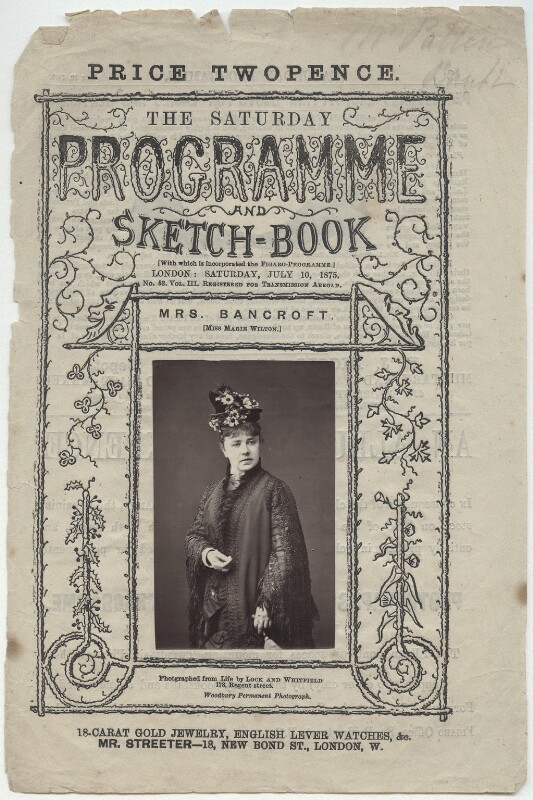 Marie Effie (née Wilton), Lady Bancroft, by Lock & Whitfield, published 10 July 1875 - NPG x132951 - © National Portrait Gallery, London