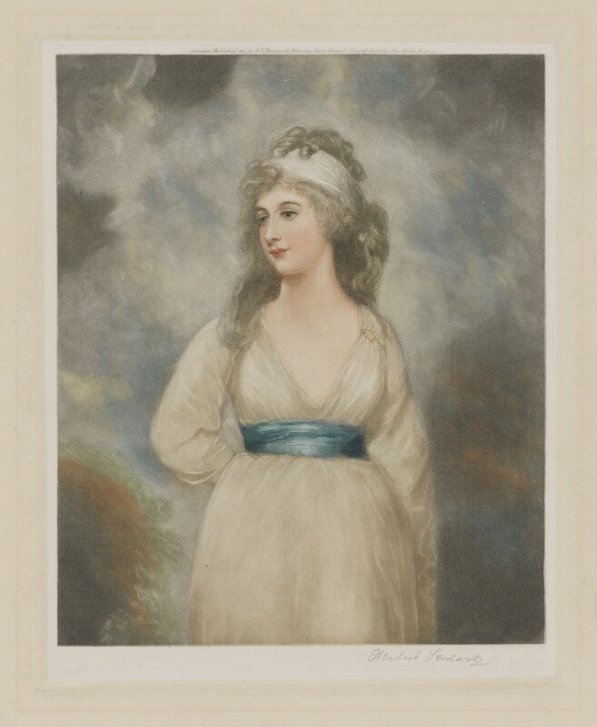 Amelia Anne Stewart (née Hobart), Marchioness of Londonderry (Lady Castlereagh), published by F.J. Dennis, published by  Samuel Schwartz, Sons & Co, after  Sir Thomas Lawrence, published 1914 - NPG D37422 - © National Portrait Gallery, London