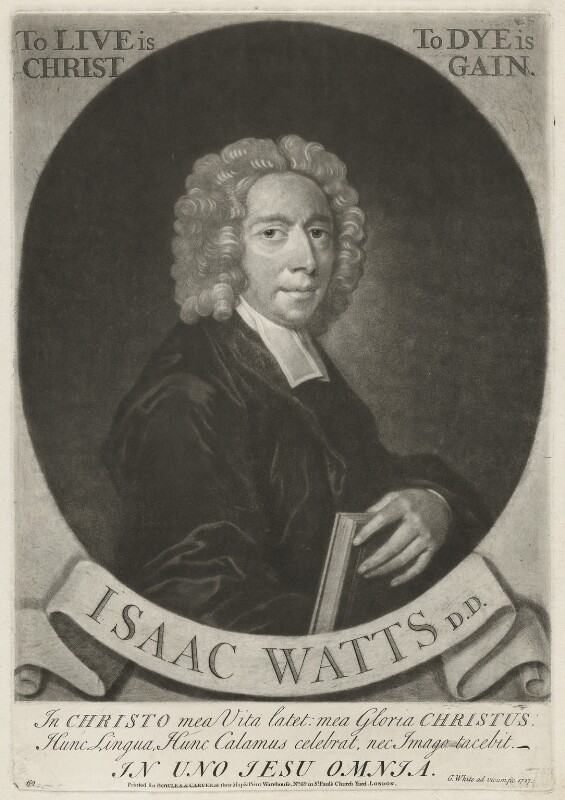 Isaac Watts, by George White, printed for  Bowles & Carver, 1727 - NPG D37902 - © National Portrait Gallery, London
