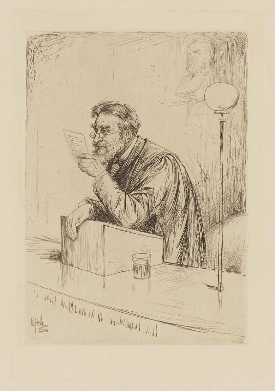 James Lorimer, by William Brassey Hole, published 1884 - NPG D37442 - © National Portrait Gallery, London