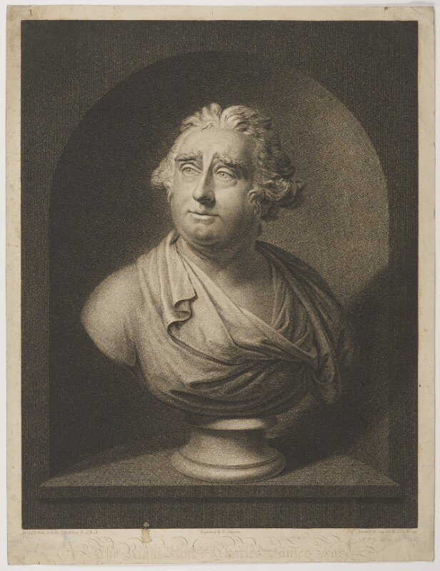 Charles James Fox, by Thomas Gaugain, after  Simon de Koster, after  Joseph Nollekens, published 1798 - NPG D37778 - © National Portrait Gallery, London