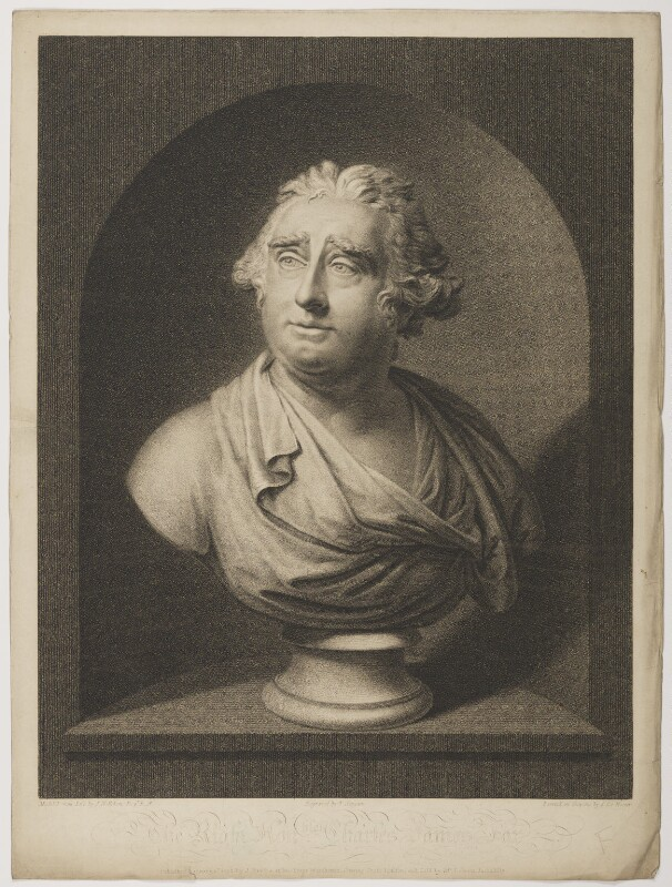 Charles James Fox, by Thomas Gaugain, published by  John Brydon, sold by  Mr Debrett, after  Simon de Koster, after  Joseph Nollekens, published 1798 - NPG D37779 - © National Portrait Gallery, London
