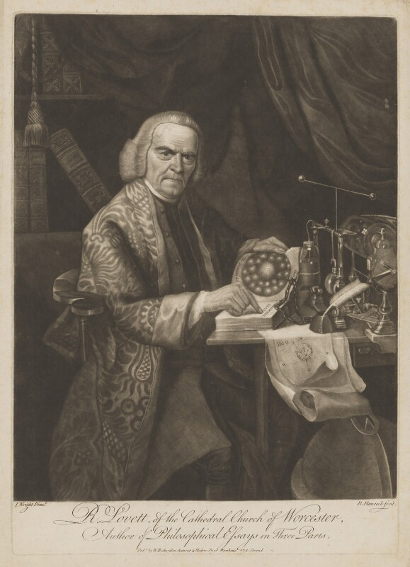Richard Lovett, by Robert Hancock, published by  William Richardson, after  Joseph Wright, late 18th century - NPG D37460 - © National Portrait Gallery, London