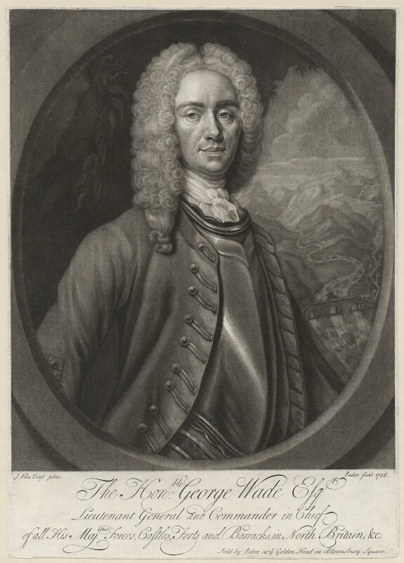 George Wade, by, published by and sold by John Faber Jr, after  Johan van Diest, published 1736 (circa 1731) - NPG D37967 - © National Portrait Gallery, London