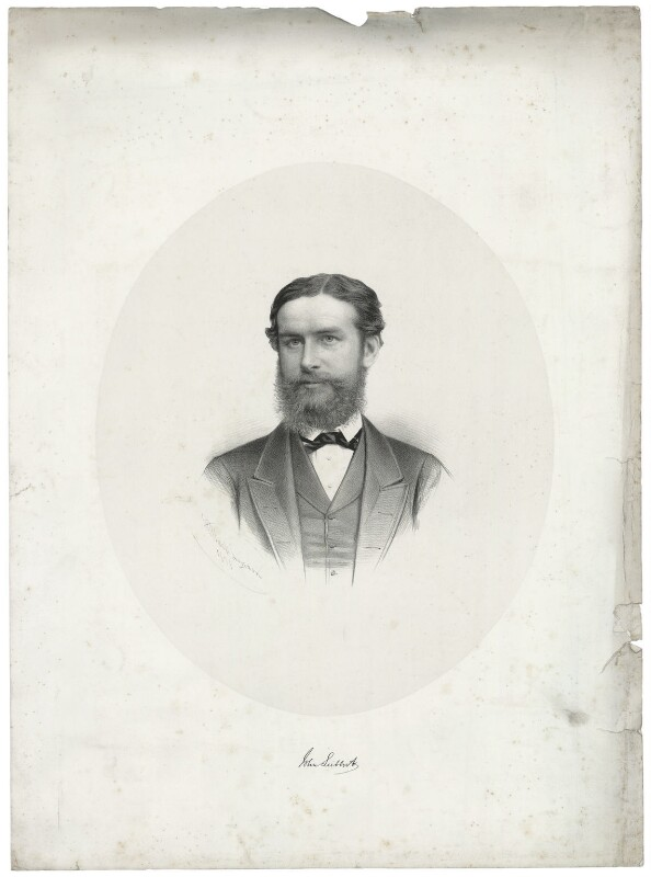 John Lubbock, 1st Baron Avebury, by George B. Black, 1871 - NPG D37473 - © National Portrait Gallery, London