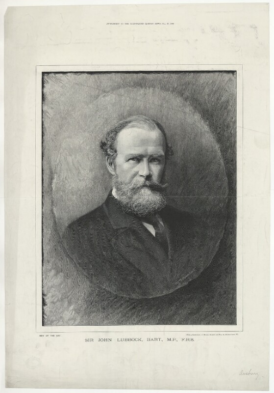 John Lubbock, 1st Baron Avebury, by Moritz Klinkicht, supplement to the  Illustrated London News, after  Francis Henry Hart, for  Elliott & Fry, published 15 February 1890 - NPG D37474 - © National Portrait Gallery, London