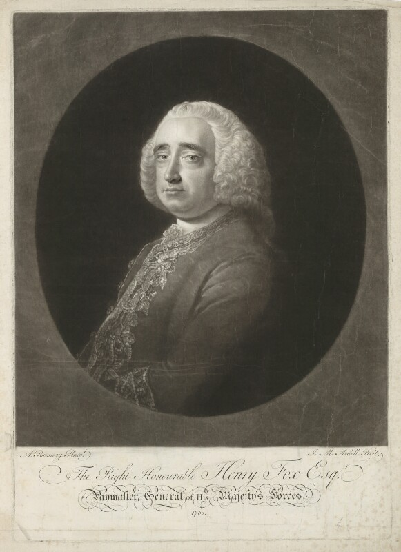 Henry Fox, 1st Baron Holland, by James Macardell, after  Allan Ramsay, 1762 - NPG D37787 - © National Portrait Gallery, London