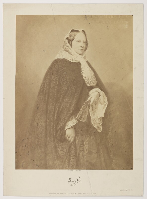 Lady Mary Fox (née FitzClarence), by and published by Caldesi & Co, after  Attilio Baccani, (1864) - NPG D37792 - © National Portrait Gallery, London