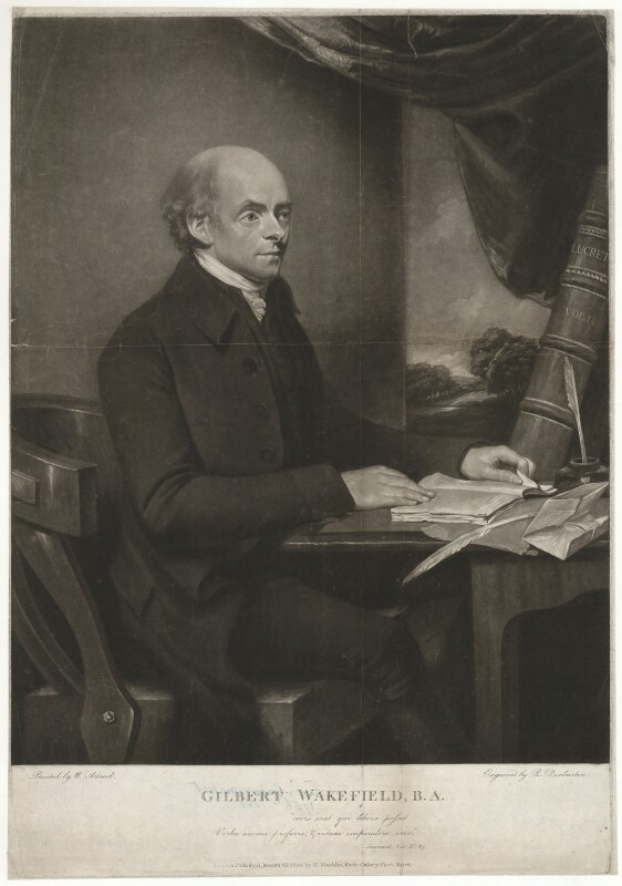 Gilbert Wakefield, by Robert Dunkarton, published by  Hannah Macklin (née Kenting), after  William Artaud, published 1802 - NPG D37976 - © National Portrait Gallery, London