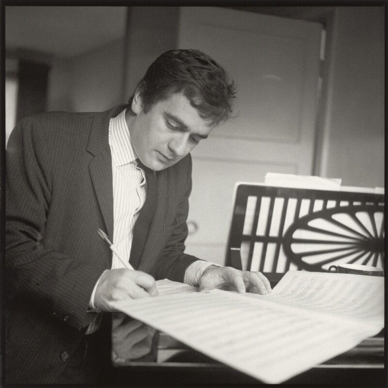 Dudley Moore, by Ida Kar, and by  Terry Taylor, circa 1960 - NPG x132986 - © National Portrait Gallery, London