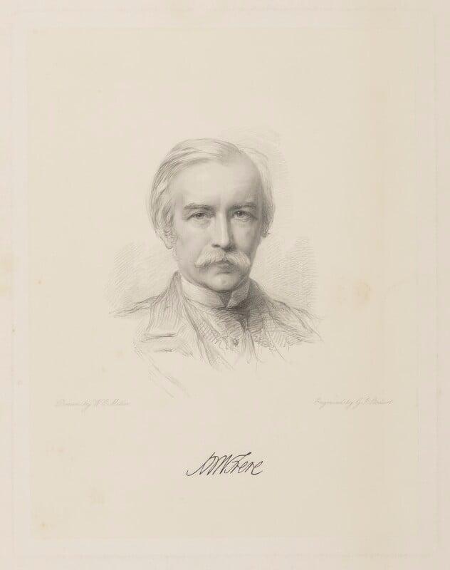 Sir (Henry) Bartle Edward Frere, 1st Bt, by George J. Stodart, after  William Edwards Miller, 1874 or after - NPG D38433 - © National Portrait Gallery, London