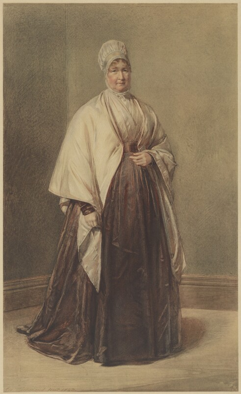 Elizabeth Fry, published by The Medici Society Ltd, after  George Richmond, 1913 or before (1843) - NPG D38442 - © National Portrait Gallery, London