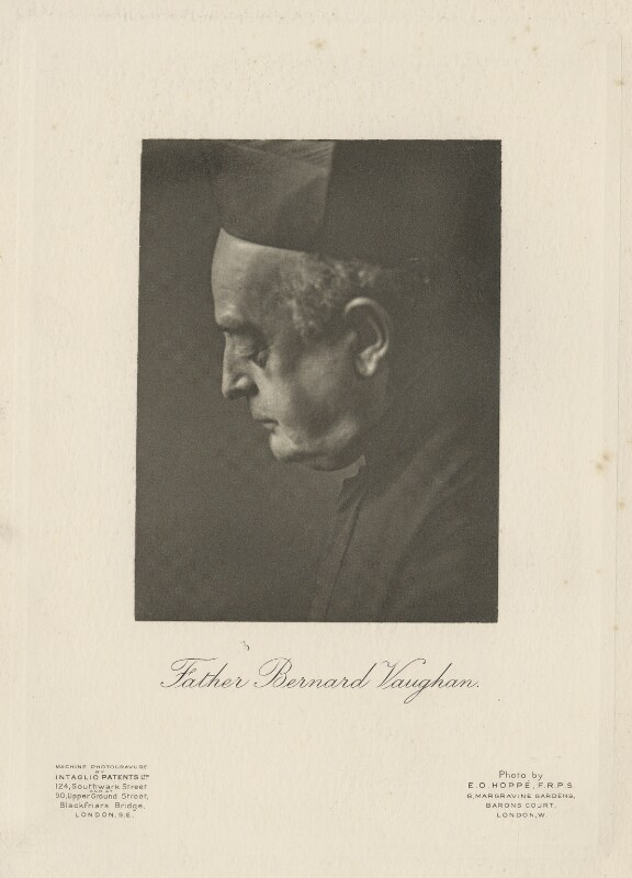 Bernard John Vaughan, by Emil Otto ('E.O.') Hoppé, printed by  Intaglio Patents Ltd, 1909 - NPG Ax133213 - © 2017 E.O. Hoppé Estate Collection / Curatorial Assistance Inc.