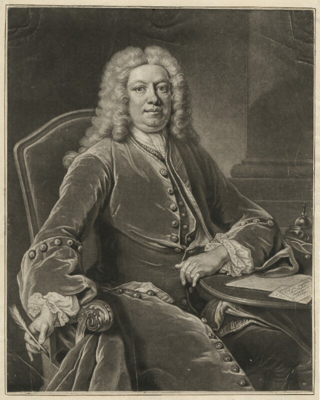 Horatio Walpole, 1st Baron Walpole of Wolterton, by John Simon, after  Jean Baptiste van Loo, 1741 (1739) - NPG D38508 - © National Portrait Gallery, London