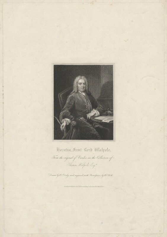 Horatio Walpole, 1st Baron Walpole of Wolterton, by William Holl Sr, published by  Harding & Lepard, after  William Derby, after  Jean Baptiste van Loo, published 1 January 1831 - NPG D38509 - © National Portrait Gallery, London