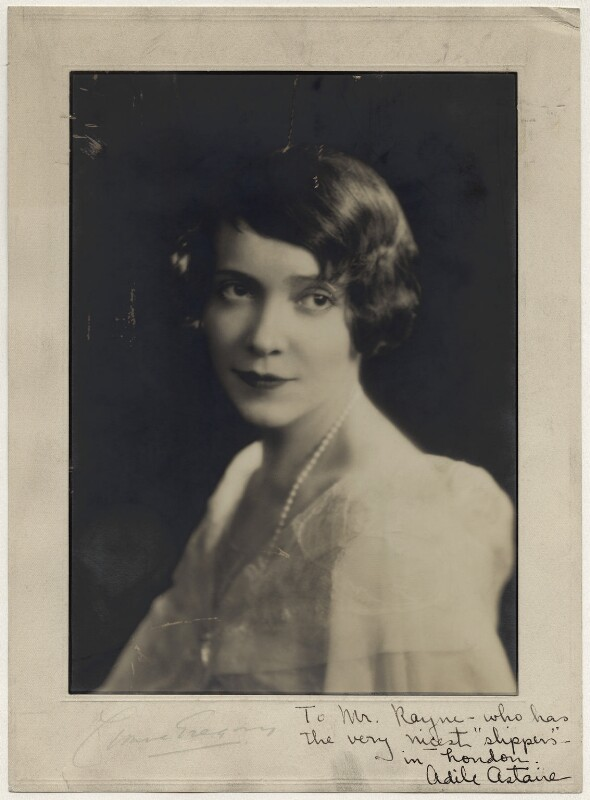 Adèle Astaire (Lady Charles Cavendish), by Yvonne Gregory, 1920s - NPG x133221 - © estate of Yvonne Gregory / National Portrait Gallery, London