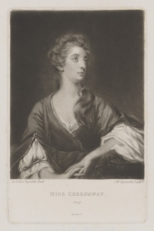 Elizabeth Napier (née Greenway), by Samuel William Reynolds, or by  Samuel Cousins, published by  Henry Graves & Co, after  Sir Joshua Reynolds, published circa 1820 or after (1765) - NPG D38470 - © National Portrait Gallery, London