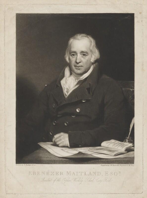 Ebenezer Maitland, by Samuel William Reynolds, after  Thomas Phillips, early 19th century - NPG D38152 - © National Portrait Gallery, London