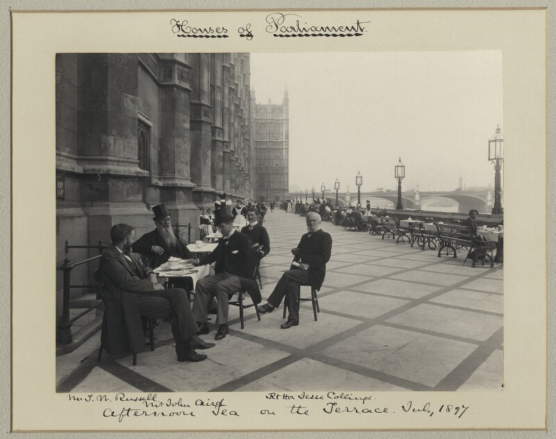 'Afternoon tea on the Terrace', by Sir (John) Benjamin Stone, July 1897 - NPG x133295 - © National Portrait Gallery, London