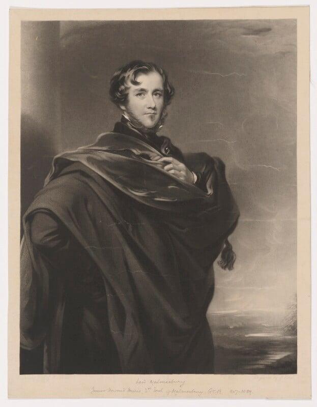 James Howard Harris, 3rd Earl of Malmesbury, by George Zobel, after  James Godsell Middleton, (1852) - NPG D38170 - © National Portrait Gallery, London