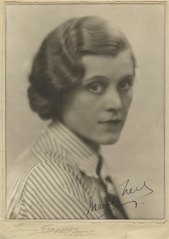 Marie Ney, by Yvonne Gregory, 1933 - NPG x133275 - © estate of Yvonne Gregory / National Portrait Gallery, London