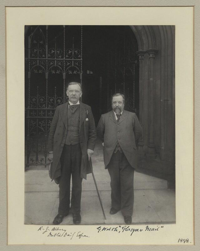 Robert James Albery; G. Walsh, by Sir (John) Benjamin Stone, 1898 - NPG x133318 - © National Portrait Gallery, London