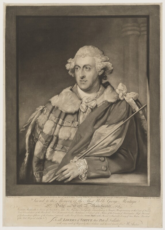 George Montagu, 4th Duke of Manchester, by John Jones, published by  William Austin, after  Gilbert Stuart, published 20 January 1790 - NPG D38180 - © National Portrait Gallery, London