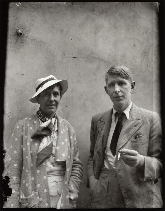 Erika Mann; W.H. Auden, by Alec Bangham, 1935 - NPG x133302 - © National Portrait Gallery, London