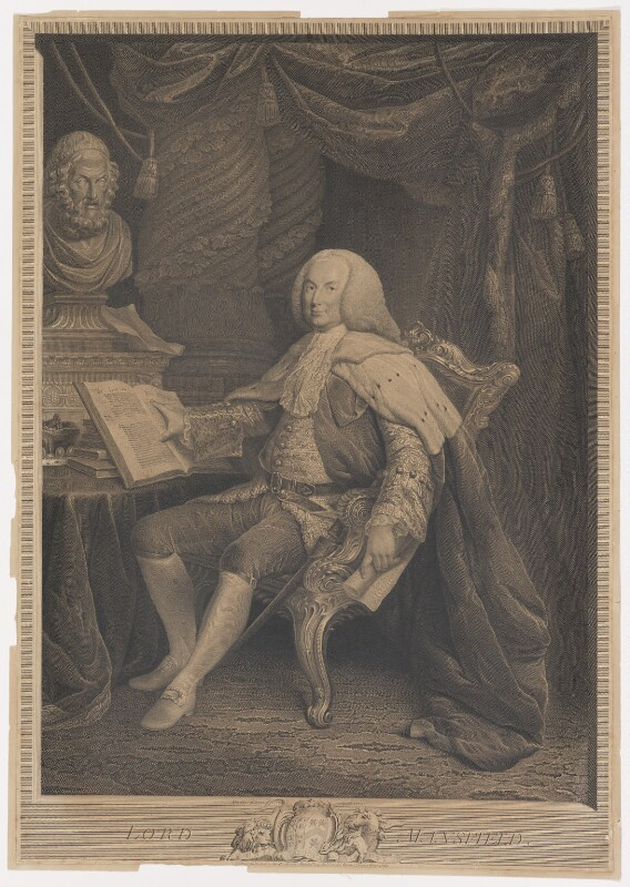William Murray, 1st Earl of Mansfield, by and published by David Martin, published 1 March 1775 (1770) - NPG D38209 - © National Portrait Gallery, London