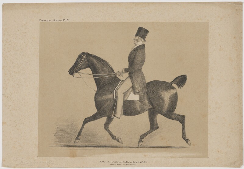 Henry Pelham Pelham-Clinton, 4th Duke of Newcastle-under-Lyne, printed by Alfred Ducôte, published by  Thomas McLean, published 1 December 1840 - NPG D38724 - © National Portrait Gallery, London