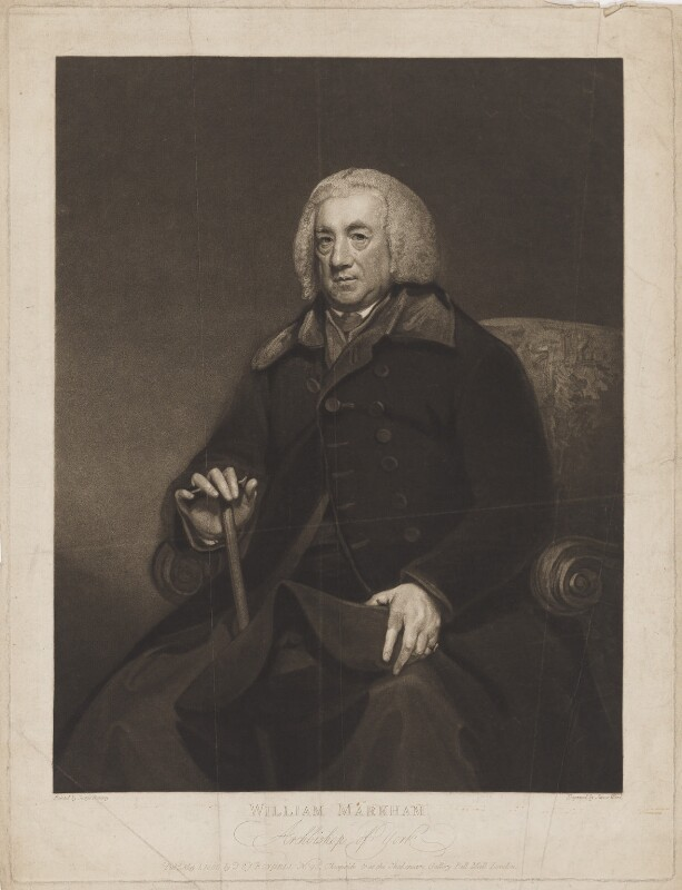 William Markham, by James Ward, published by  John Boydell, published by  Josiah Boydell, after  George Romney, published 1 May 1800 (1790-1795) - NPG D38229 - © National Portrait Gallery, London