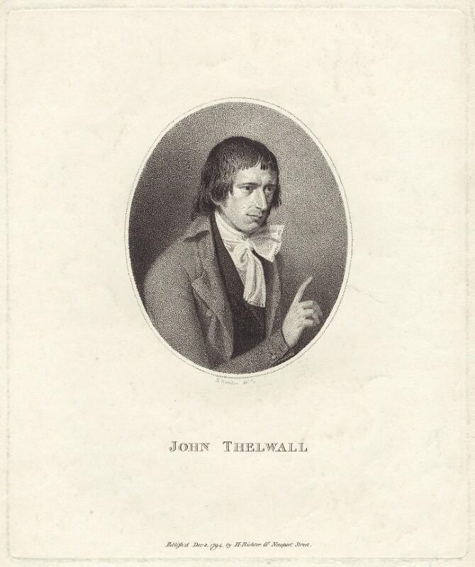 John Thelwall, by Henry James Richter, published 8 December 1794 - NPG D38540 - © National Portrait Gallery, London