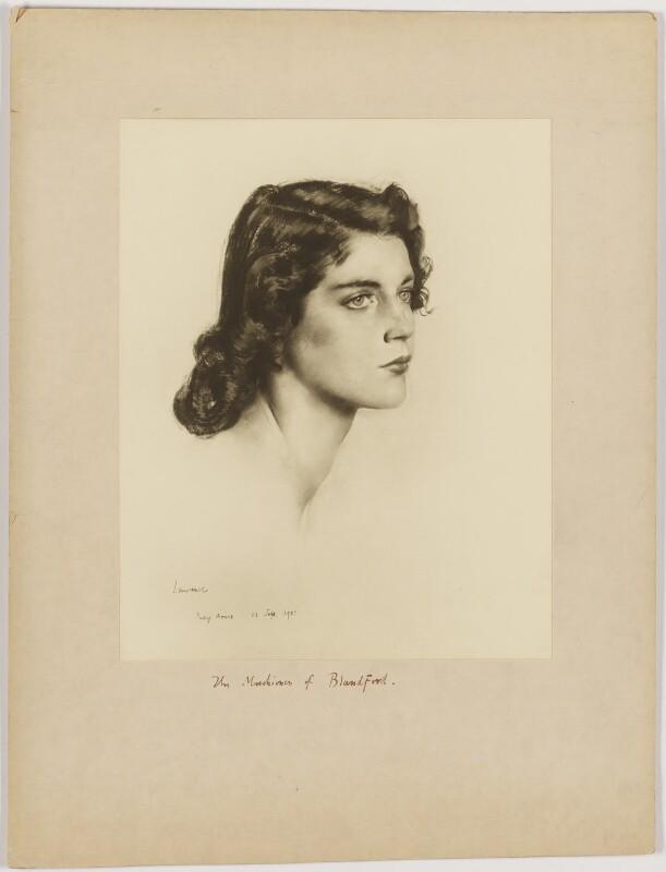 Mary Spencer-Churchill (née Cadogan), Duchess of Marlborough, after Alfred Kingsley Lawrence, 11 September 1951 - NPG D38262 - © National Portrait Gallery, London